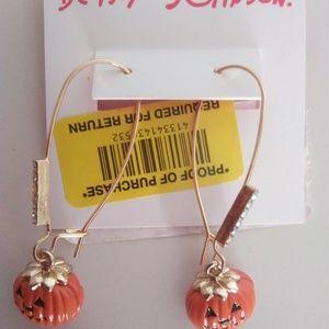 Betsey Johnson New Jack-O-Lantern Earrings